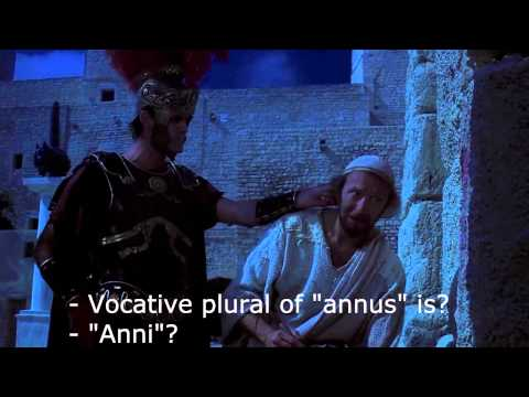 Life of Brian graffiti scene with subtitles
