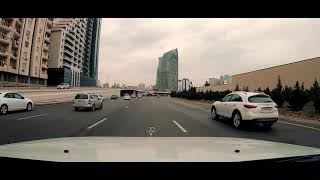 Driving Downtown - Baku City 4K - AZERBAIJAN