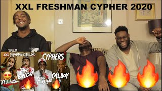 Fivio Foreign, Calboy, 24kGoldn and Mulatto's 2020 XXL Freshman Cypher (REACTION)