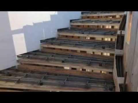 Лестница из бетона на тетиве