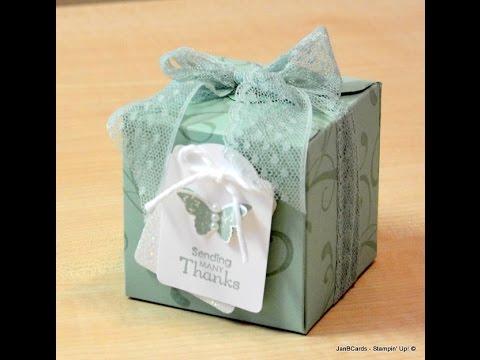 No.76 - Gift Box Punch Board Box - JanB UK Stampin' Up! demonstrator Independent