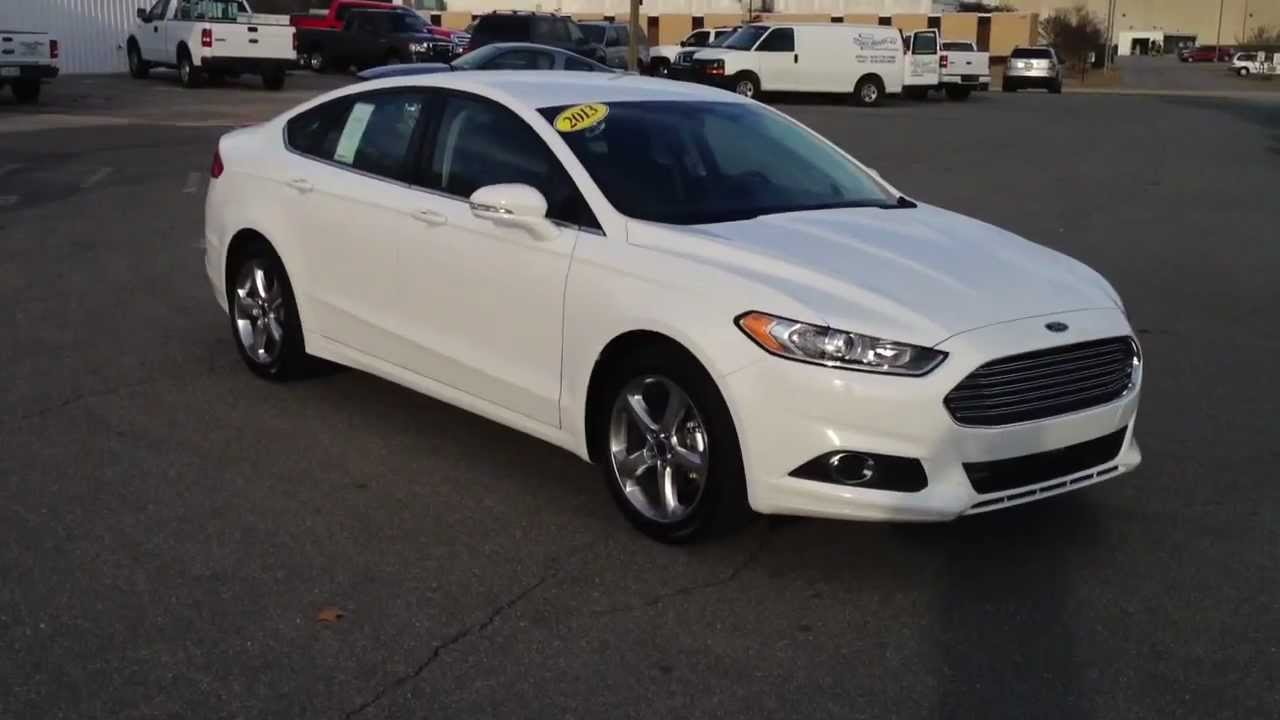 All New 2013 Ford Fusion Se Oxford White Youtube