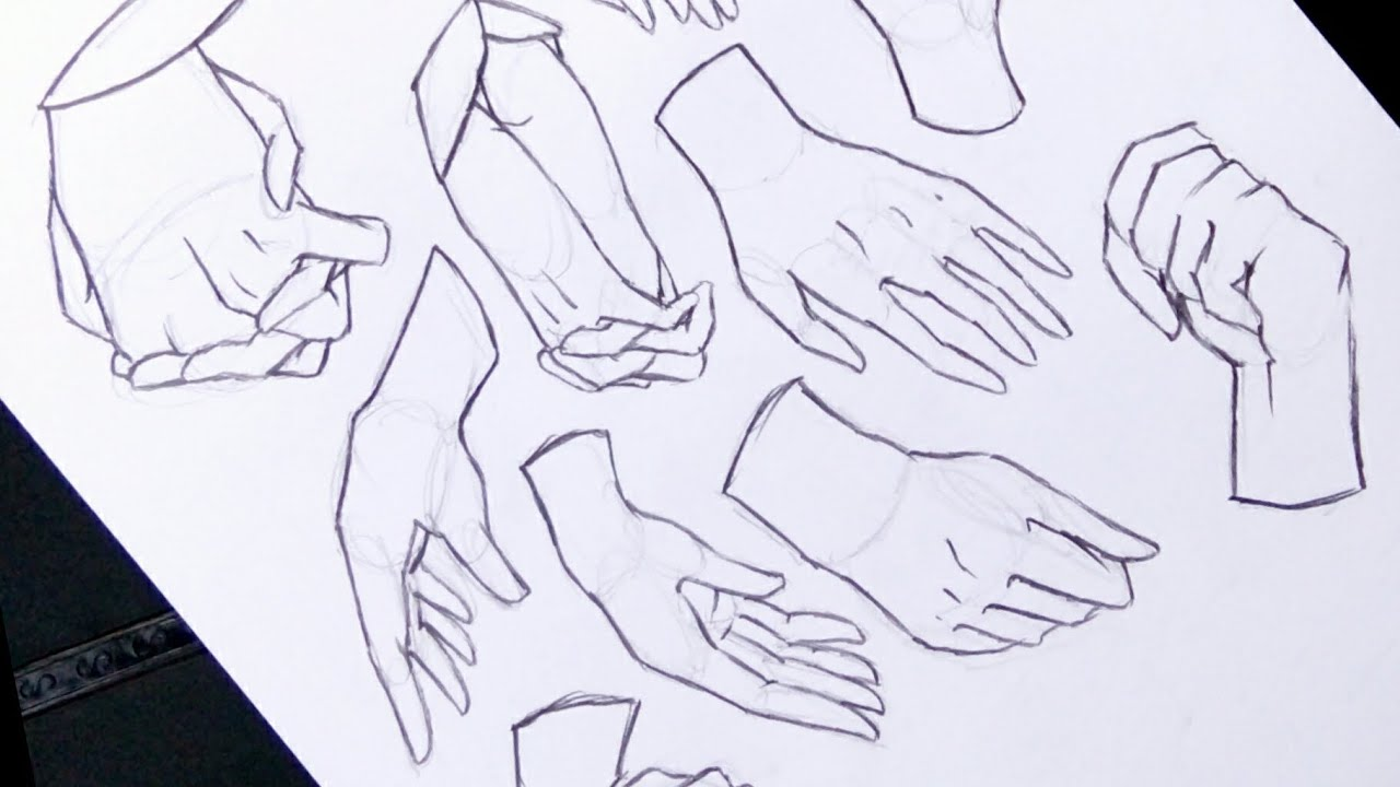 How To Draw Anime Hands No Timelapse Anime Drawing Tutorial For Beginners Youtube