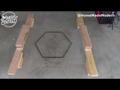 DIY Fire Pit Made From Welding Steel Out Of A Steel Rod