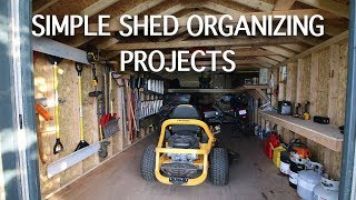 SIMPLE SHED ORGANIZING PROJECTS | Shelves, Loft, Rafters, Racks