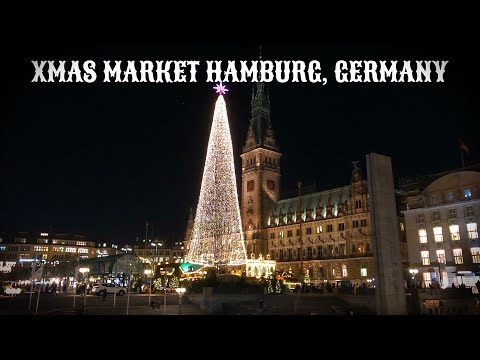 XMAS MARKET | HAMBURG, GERMANY - A TRAVEL TOUR - 4K UHD