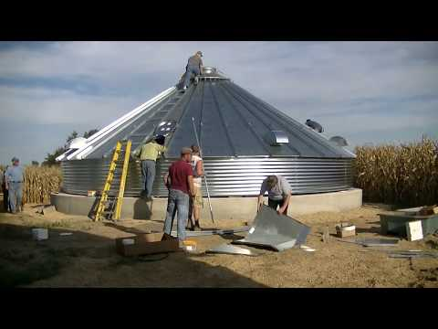 Installing a Roof on a Sioux Grain Bin