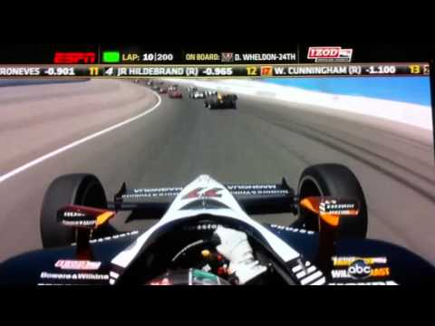 Dan Wheldon's onboard camera for the last moment before the fatal accident.