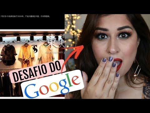 O GOOGLE ESCOLHEU A MINHA MAQUIAGEM 😱 Google Picks My Makeup Challenge