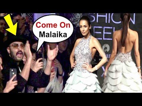 Arjun Kapoor Cheering Girlfriend Malaika Arora Khan At Lakme Fashion Week 2019