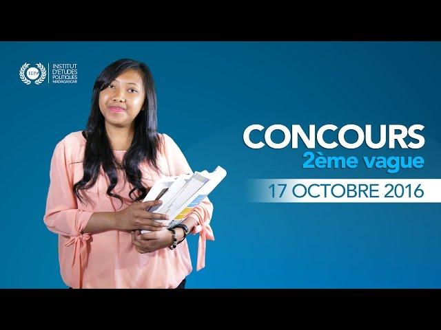 IEP Madagascar - Concours 2016