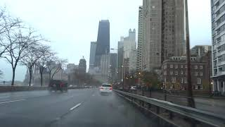 Chicago driving footage - Downtown + 41/Lake Shore Drive