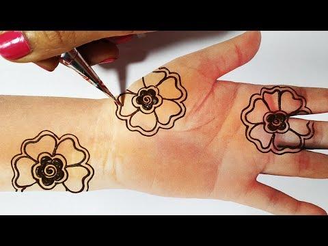 Latest Mehndi Trick - Easy Flower Mehndi for Hands - किसी भी तीज त्यौहार के लिए मेहँदी लगाएं
