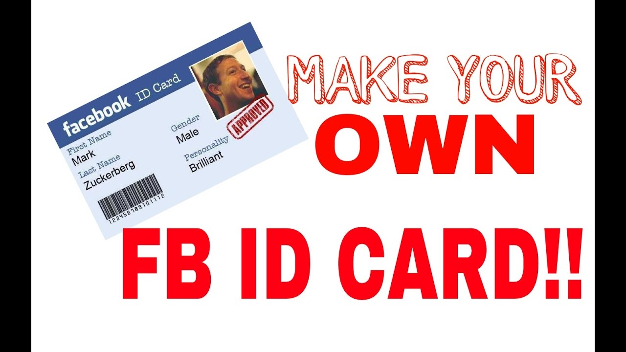 How to make a FB ID card in 30 seconds!!! - YouTube