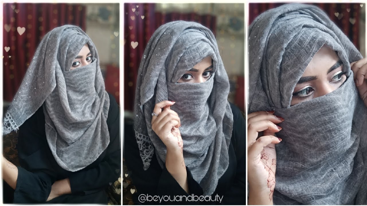 Easy Layer Hijab Tutorial With Niqab Be You And Beauty Youtube