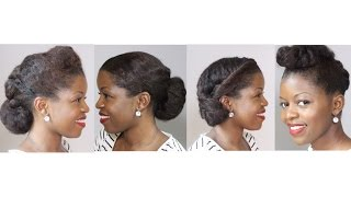 4 Natural Hair Professional Looks Great for Work/Interview | MissT1806 | Natural Hairstyles