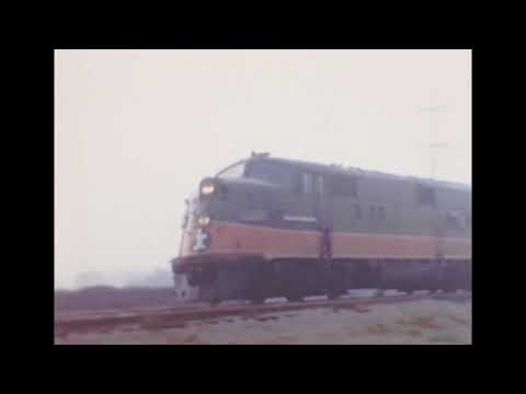 Illinois Central Railroad at Champaign in the late 1960s