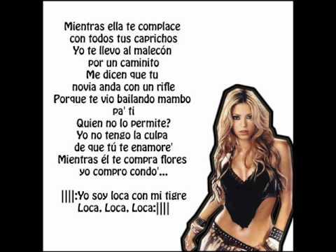 Loca - Shakira - Karaoke / Letra HD - YouTube Shakira Youtube