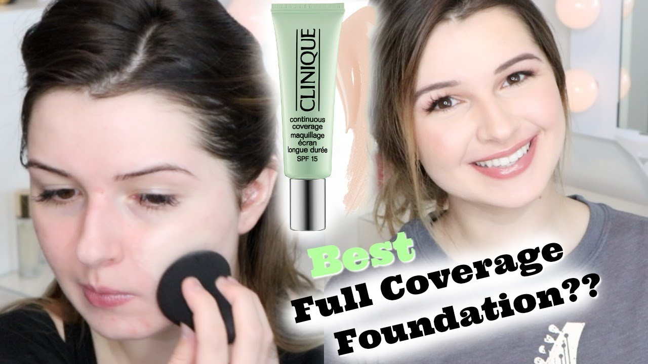 Clinique Continuous Coverage Foundation On Dry Acne Skin Youtube