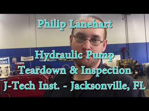 Hydraulic Pump Tear down & Inspection- [J-Tech Institute-Diesel Technician Training]
