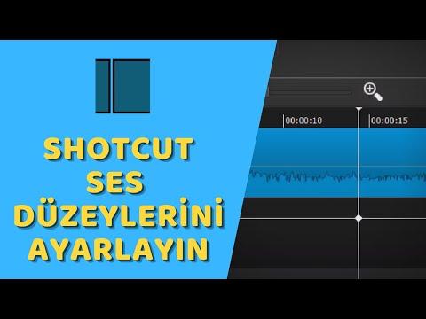 Shotcut - Ses Düzeylerini Ayarlama