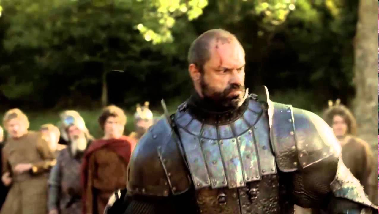 Gregor Clegane Season 2 Sandor Clegane vs. Gre...