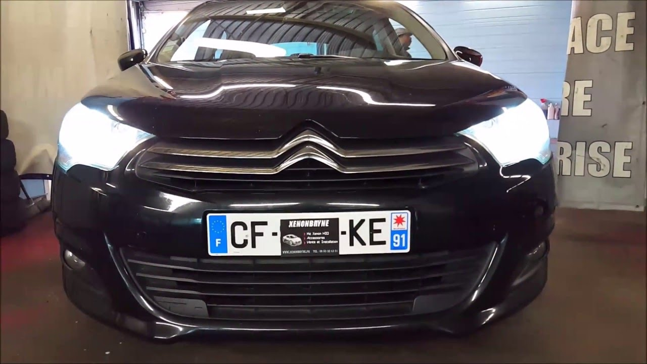pose kit xenon installation sur citroen c4 2012 2013 2014 2015 youtube. Black Bedroom Furniture Sets. Home Design Ideas