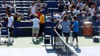 Tsonga signing autographs at Us Open 2011