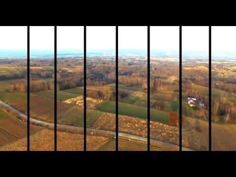 Magdalenka Hill, Poland [4K], aerial video