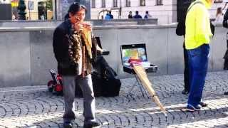 Andean Pan Flute Street Performance