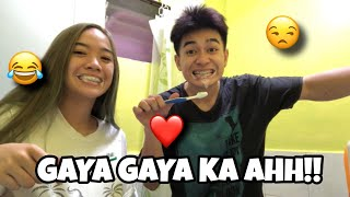 COPYING WHATEVER MY GIRLFRIEND DOES!! (Galit na galit!?) | Roi Oriondo