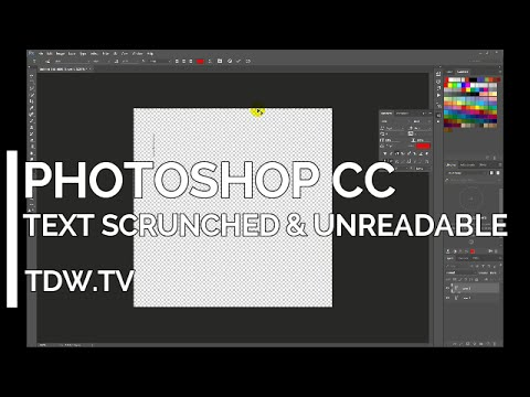 Photoshop CC - Garbled & Unreadable Text - Leading thumbnail