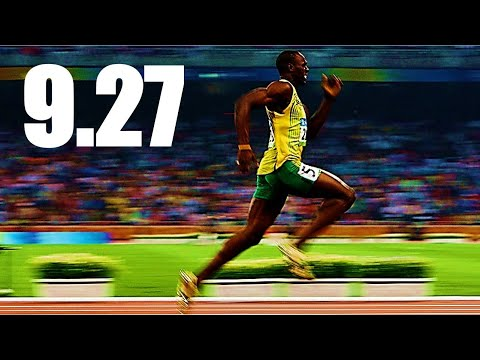 100M DASH WORLD RECORD - 9.27 Seconds - WHEN WILL A HUMAN RUN THIS??