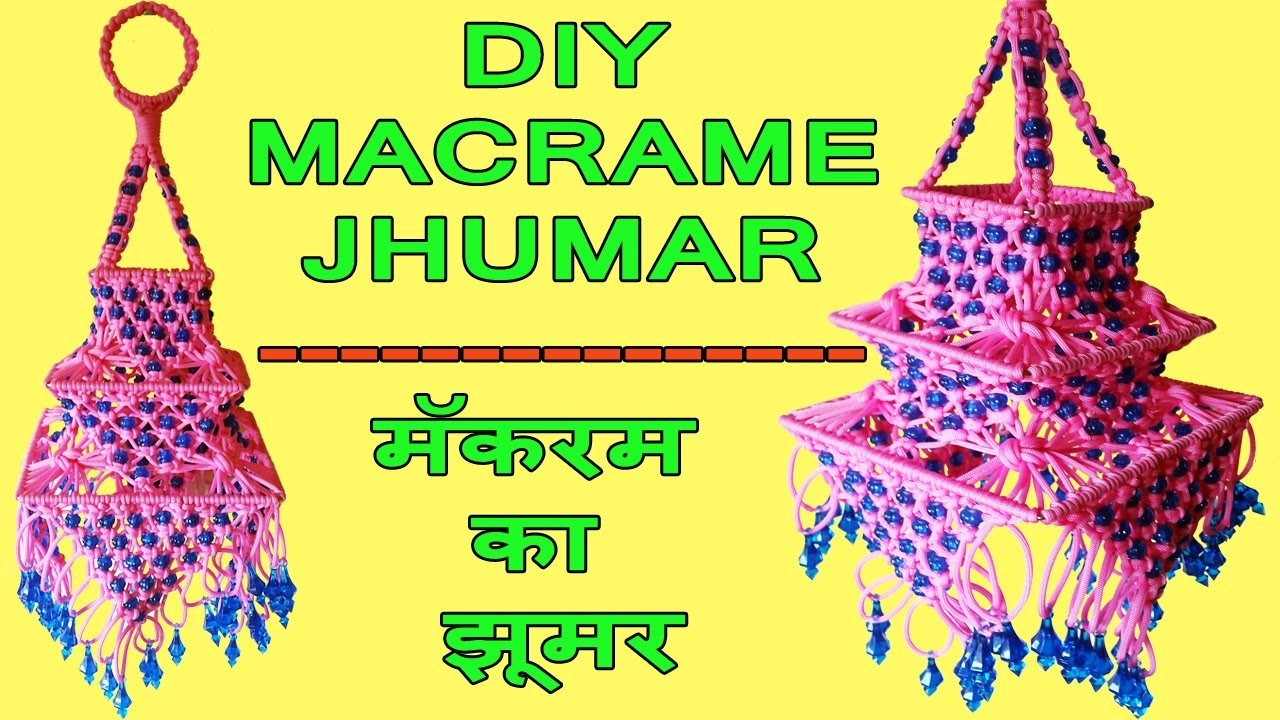 DIY How to Make Macrame Jhumar Wall Hanging Design #2 | Macrame ...