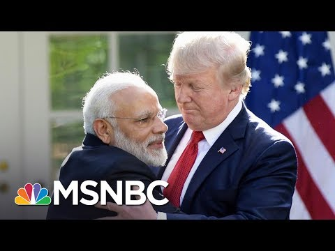 President Donald Trump And Indian Prime Minister Modi Hug It Out | All In | MSNBC