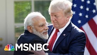 President Donald Trump And Indian Prime Minister Modi Hug It Out   All In   MSNBC