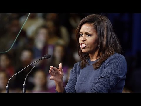 Michelle Obama slams Trump over sexual assault claims
