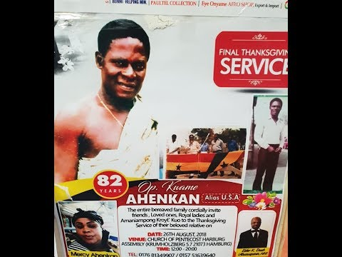 THANKSGIVING OF OPANIN KWAME AHENKAN(aka USA)BY OFORIONE TV