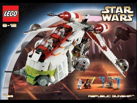 Lego 7163 Star Wars Republic Gunship Instruction Manual Youtube