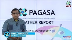 Public Weather Forecast Issued at 4:00 PM October 22, 2017