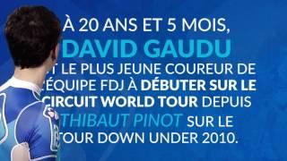 David Gaudu plus jeune coureur de l'équipe FDJ sur le World Tour depuis Thibaut Pinot