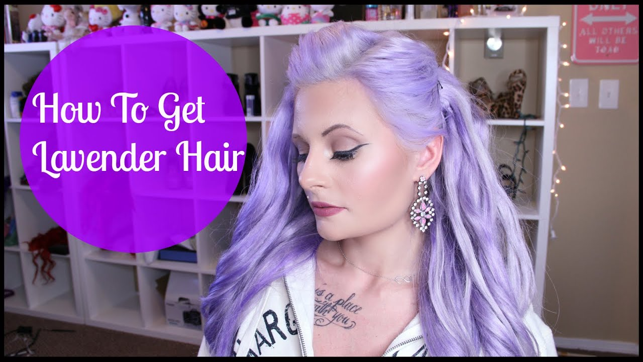 How I Went From Red Hair To Pastel Lavender Mariah Mclean Youtube
