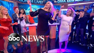 DWTS Season 24 Cast Plays Wedding Dance Game Live on 'GMA'