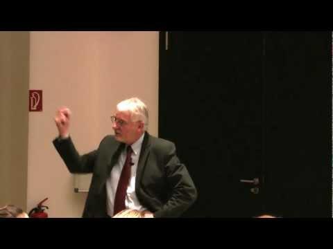 Guest Lecture: Gerhard Roth - Neuroepistemology (Jacobs University Bremen)