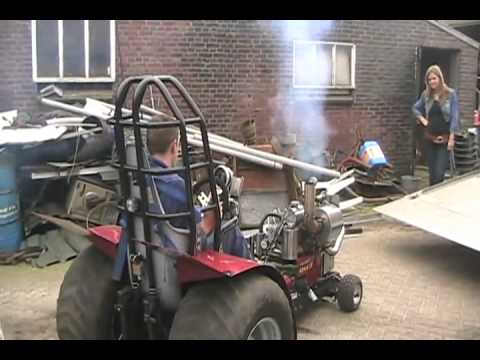 Cold Start Dutch Diesel Mini Tractor Puller Holland Youtube