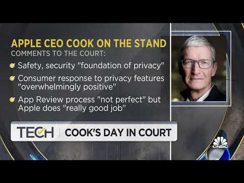 Apple CEO Tim Cook takes the stand in Apple-Epic court battle