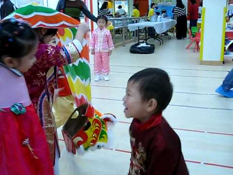 Lion Dance with Two K3 Girls.avi
