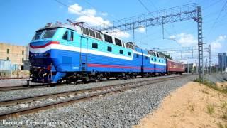 Электровоз ЧС7-017 (ТЧЭ-18) + вагон-лаборатория АТС метрологии.(, 2016-08-13T13:47:41.000Z)