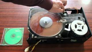 Vintage 8-inch hard drive (Xerox) with belt drive