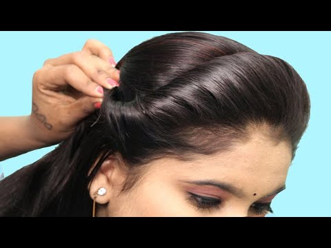 Cute Simple hairstyle for medium/short hair : Party hairstyle girls / New Beautiful hairstyle ladies